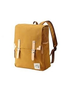 Bagdori Simple Cotton Square Backpack Mustard (Jaune)