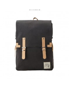 Bagdori Simple Cotton Square Backpack Charcoal (Gris)