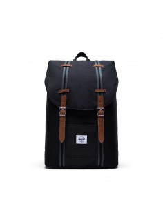 Herschel Retreat Mid-Volume Black Black Tan