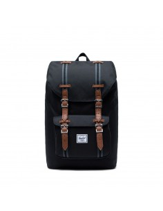 Herschel Little America Mid-Volume Black Black Tan (Noir)
