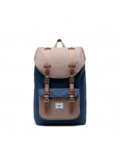 Herschel Little America Mid-Volume Navy Pine Bark Tan (Bleu)