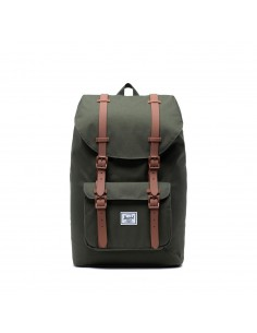 Herschel Little America Mid-Volume Dark Olive Saddle Brown (Kaki)