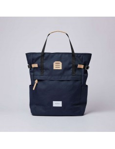 Sandqvist Roger Navy With Natural Leather