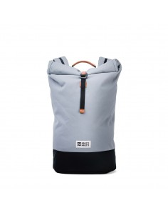 Mero Mero Squamish Backpack Stone Grey Brown Leather