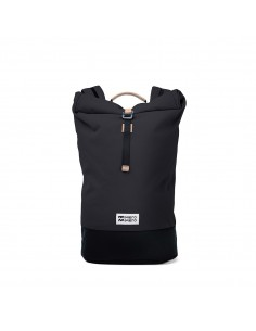Mero Mero Squamish Backpack Dark Grey Nude Leather