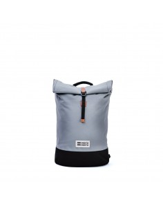 Mero Mero Mini Squamish Backpack Stone Grey Brown Leather