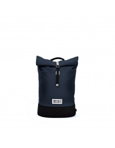 Mero Mero Mini Squamish Backpack Navy Blue Cream Leather