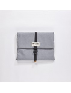 Mero Mero Paquier Pouch Stone Grey Brown Leather