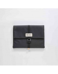 Mero Mero Paquier Pouch Dark Grey Light Pink Leather