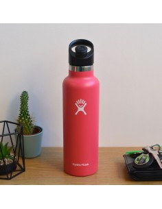 HydroFlask Standard Mouth With Sport Cap Rose 21oz (621mL)