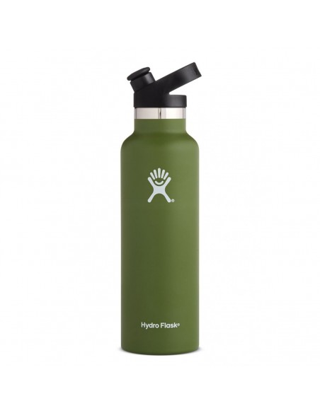 HydroFlask Standard Mouth With Sport Cap Olive 21oz (621mL)
