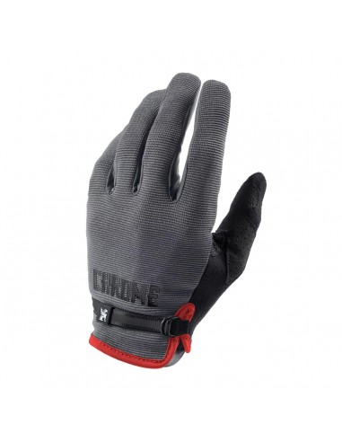 Chrome Cycling Gloves Grey Black