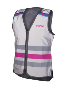 Gilet Fluo Rose Réfléchissant Wowow Lucy FR Jacket