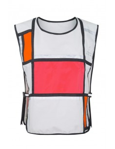 Gilet Visibilité D1 Bell Georgia in Dublin White Orange Pink