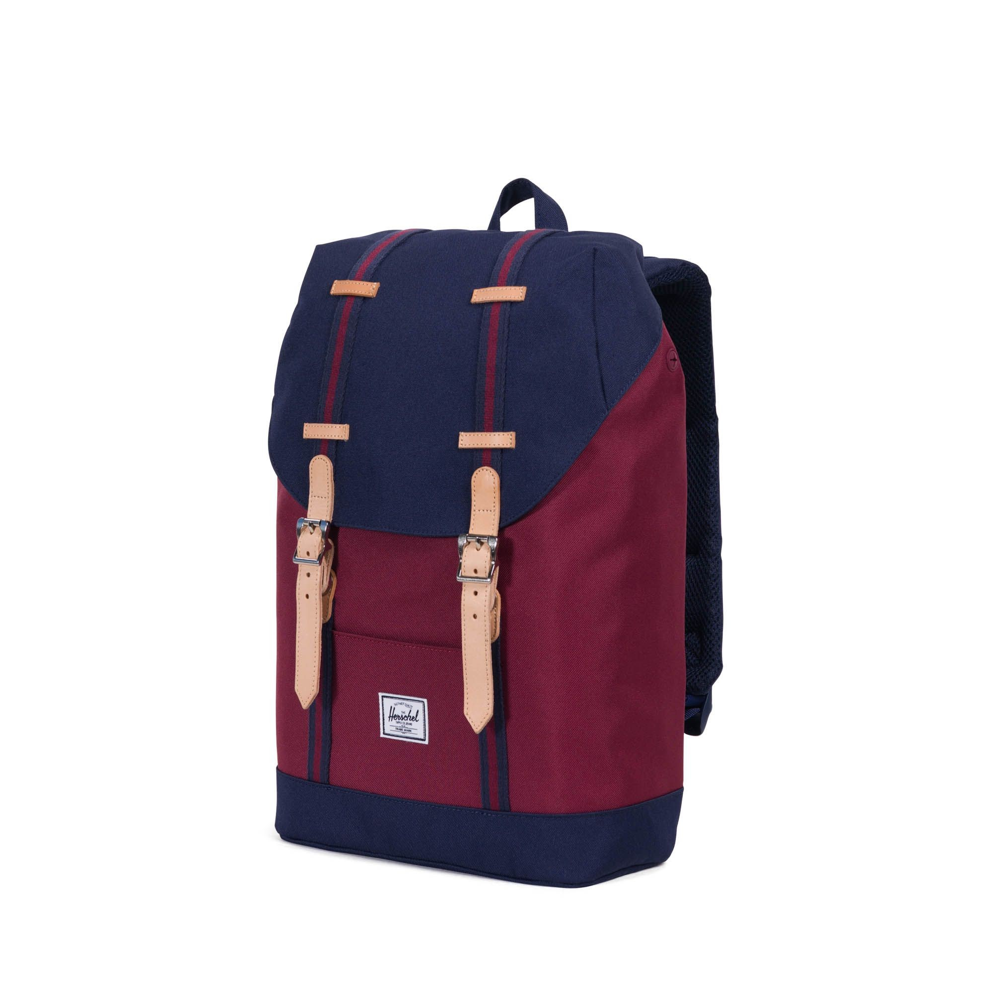 Sac à dos Herschel Retreat Mid-Volume Winetasting Crosshatch/Tan rouge teXV9mw
