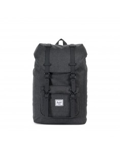 Herschel Little America Mid Volume Black Crosshatch/Black