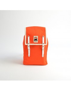 Ykra Matra Mini White Leather Orange