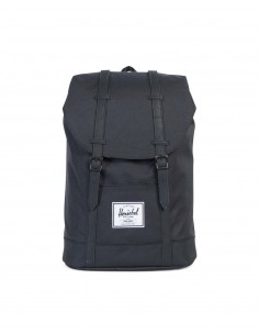 Herschel Retreat Black/Black Rubber