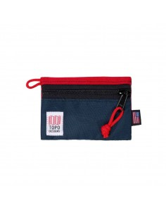 Topo Designs Accessory Bag Red Navy Micro